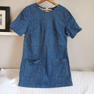 Forever 21 Shortsleeve Denim Shift Dress w Pockets